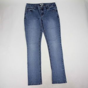 SO Womens Jeans Skinny Size 11 Mid Rise Light Wash